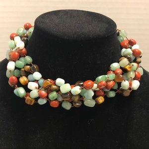 Stone Multicolored Beaded Necklace
